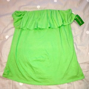 Lily Pulitzer XL Green Wiley Top